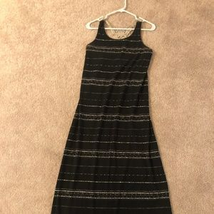 Mossimo Floor length Jersey Black Summer Dress